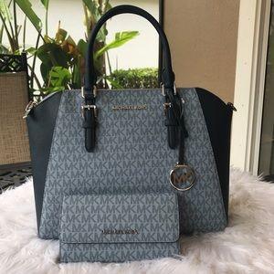 Michael Kors large satchel bag with wallet set